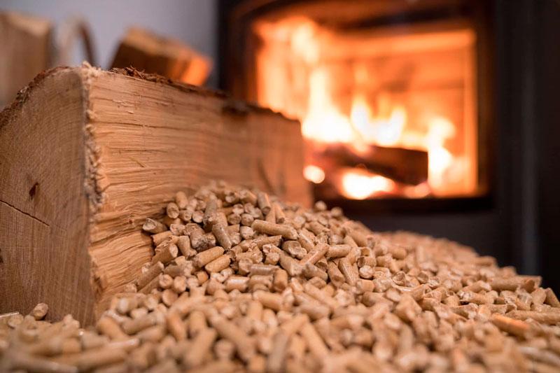 calentamiento de pellets